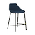 Click to swap image: <strong>Ronald Barstool- Dark Blue - RRP-$644</strong></br>Upholstery Material - Fabric (100% Polyester)</br>Seat Height - 645mm</br>Base Colour - Matt Black</br>Base Material - Metal</br>Upholstery Colour - Dark Blue</br>Barstool Stackable - No</br>Base Finish - Powdercoat