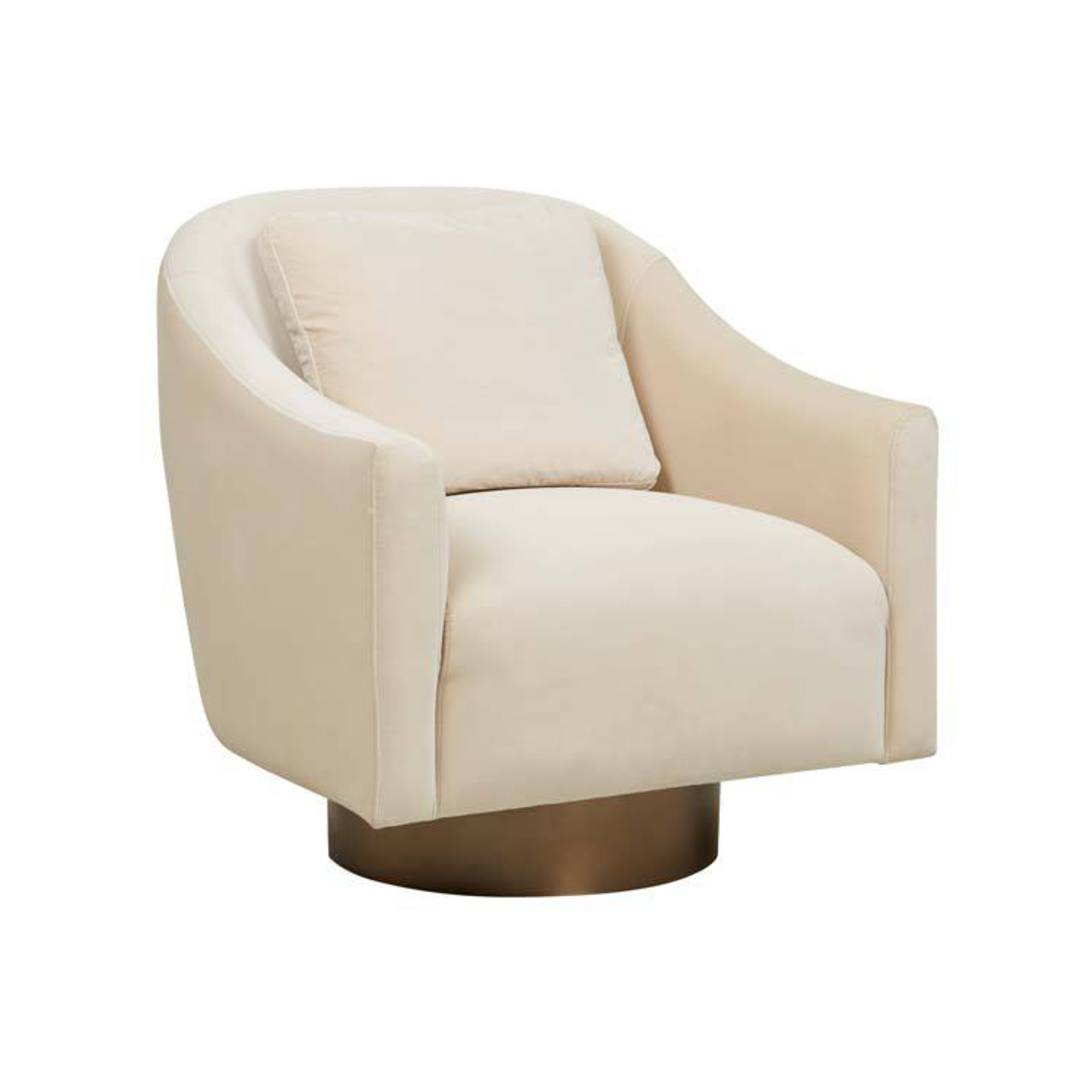 Kennedy Curve Swivel Occasional Chair image 1