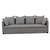 Click to swap image: <strong>Vittoria Slipcover 4Str-Wsmoke - RRP-$6121</strong></br>Dimensions: W2450 x D870 x H780mm</br>Shipped: Assembled - 1.841m3</br>Cushion Construction - Sofa Cushion Profile - Soft</br>Filling Material - Foam & Feathers</br>Upholstery Colour - Washed Smoke</br>Upholstery Configuration - Removable Slip cover</br>Upholstery Material - Fabric (100% Linen)