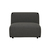 Click to swap image: <strong>Felix Curve 1StrArmles-Meteor - RRP-$1862</strong></br>Dimensions: W860 x D1020 x H650mm</br>Shipped: Assembled - 0.567m3</br>Cushion Construction - Sofa Cushion Profile - Medium</br>Filling Material - High Density Foam</br>Product Configuration - Joining Brackets Included</br>Product Max. Weight - 500kg</br>Seat Height - 390mm</br>Upholstery Colour - Meteor Grey</br>Upholstery Composition - 100% Polyester</br>Upholstery Construction - Removable Upholstery Cover