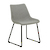 Click to swap image: <strong>Arnold Dining Ch-Bk/Grey Spec - RRP-$555</strong></br>Dimensions: W480 x D570 x H800mm</br>Shipped: K/D - Requires Assembly on site - 0.099m3</br>Chair Stackable - No</br>Leg Finish - Powdercoated</br>Leg Material - Metal</br>Seat Colour - Matt Black</br>Seat Height - 460mm</br>Upholstery Colour - Grey Speckle</br>Upholstery Material - Fabric (100% Polyester)