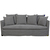 Click to swap image: <strong>Vittoria Slipcover 3Str-Wsmoke - RRP-$5399</strong></br>Dimensions: W2100 x D870 x H780mm</br>Shipped: Assembled - 1.509m3</br>Cushion Construction - Sofa Cushion Profile - Soft</br>Filling Material - Foam & Feathers</br>Upholstery Colour - Washed Smoke</br>Upholstery Configuration - Removable Slip cover</br>Upholstery Material - Fabric (100% Linen)