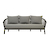 Click to swap image: <strong>Maui 3 Seater Sofa-Shadow/Blck - RRP-$5963</strong></br>Dimensions: W2100 x D800 x H810mm</br>Shipped: Assembled - 1.313m3</br>Arm Height - 600mm Arm Height</br>Cushion cover Colour - Shadow</br>Cushion cover Material - Sunproof Fabric</br>Cushion insert Material - Quick Dry Foam</br>Frame Colour - Black</br>Frame Material - Aluminium</br>Seat Height - 400mm Seat Height</br>Weaving Material - 14mm Rope