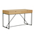 Click to swap image: <strong>Bailey Desk-Natural Ash/Black - RRP-$2715</strong></br>Dimensions: W1300 x D585 x H760mm</br>Shipped: Assembled - 0.703m3</br>Base Colour - Black</br>Base Finish - Powdercoated</br>Base Material - Metal</br>Drawer Configuration - 2</br>Drawer Internal Dimensions - W560 x D337 x H75mm</br>Frame Height - 625mm to underside</br>Top Colour - Natural Ash</br>Top Material - Ash Veneer