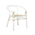 Click to swap image: <strong>Avery Maja Arm Ch-Wh/Natural - RRP-$777</strong></br>Frame Material - Rattan</br>Product Finish - PU Coating</br>Frame Colour - White with Natural webbing</br>Seat Height - 460mm</br>Frame Finish - Painted</br>Seat Material - Rattan Weaving</br>Seat Colour - Natural