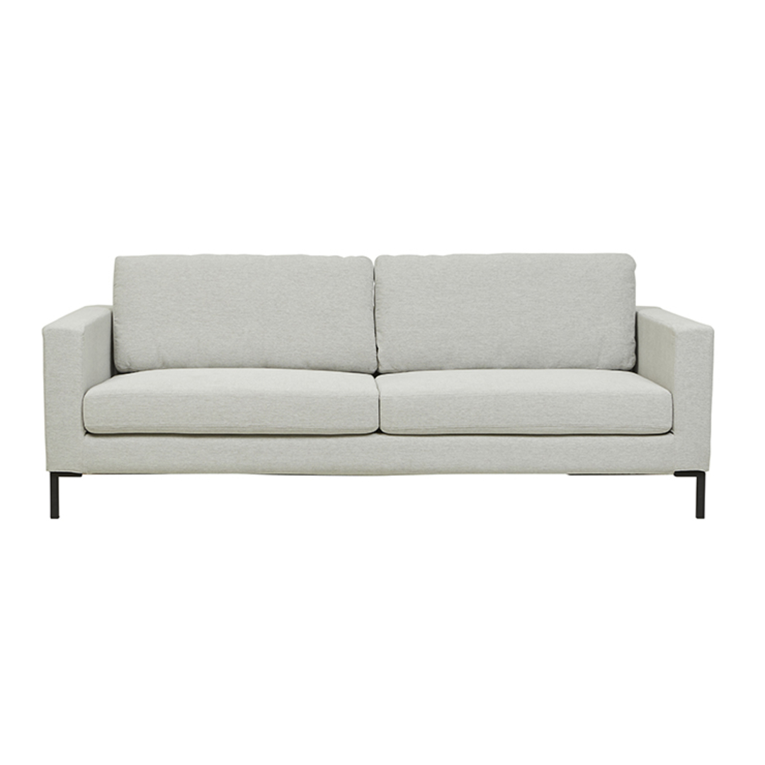 Juno 3 Seater Sofa with Black Powder Coated Legs image 0