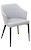 Click to swap image: <strong>Brooklyn - Arm Chair - Pewter - RRP $572</strong></br>Assembled to order -  5 weeks lead time</br>Dimensions: 610mm W x 590mm D x 825mm H - Seat height 480mm </br>Fabric Composition: 100% Polyester</br>Base finish: Black Powdercoated steel</br>Shipped: K/D - Base and seat - 0.2 m2  - Pieces : 2