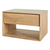 Click to swap image: <strong>Ethnicraft Nordic 1DrBedsid-Ok - RRP-$POA</strong></br>Dimensions: W570 x D400 x H370mm</br>Shipped: Assembled - 0.106m3</br>Case Colour - Natural</br>Case Material - Solid Oak</br>Drawer Configuration - 1