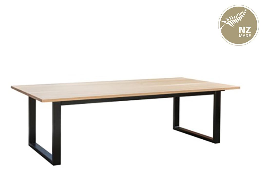 Thorndon Square Base 2400mm Table & Barleaner image 4