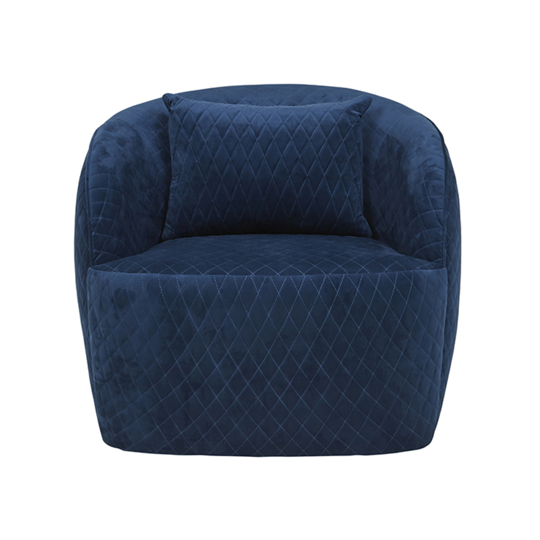Penelope Quilted Swivel Occasional Chair image 7