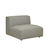 Click to swap image: <strong>Felix Curve 1Str Armless-Luna - RRP-$1917</strong></br>Dimensions: W860 x D1020 x H650mm</br>Shipped: Assembled - 0.567m3</br>Cushion Construction - Sofa Cushion Profile - Medium</br>Filling Material - High Density Foam</br>Product Configuration - Joining Brackets Included</br>Product Max. Weight - 500kg</br>Seat Height - 390mm</br>Upholstery Colour - Luna Grey</br>Upholstery Composition - 100% Polyester</br>Upholstery Construction - Removable Upholstery Cover