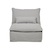 Click to swap image: <strong>Orlando Slouch Armless-Aggrega - RRP-$2284</strong></br>Dimensions: W910 x D1030 x H880mm</br>Shipped: Assembled - 0.745m3</br>Arm Height - 640mm</br>Cushion Construction - Sofa Cushion Profile - Soft</br>Filling Material - Feather & Fiber Fill</br>Seat Height - 440mm</br>Upholstery Colour - Aggregate</br>Upholstery Composition - Fabric (5% Acrylic, 15% Linen, 15% Cotton, 65% Polyester)</br>Upholstery Construction - Removable Slip Cover