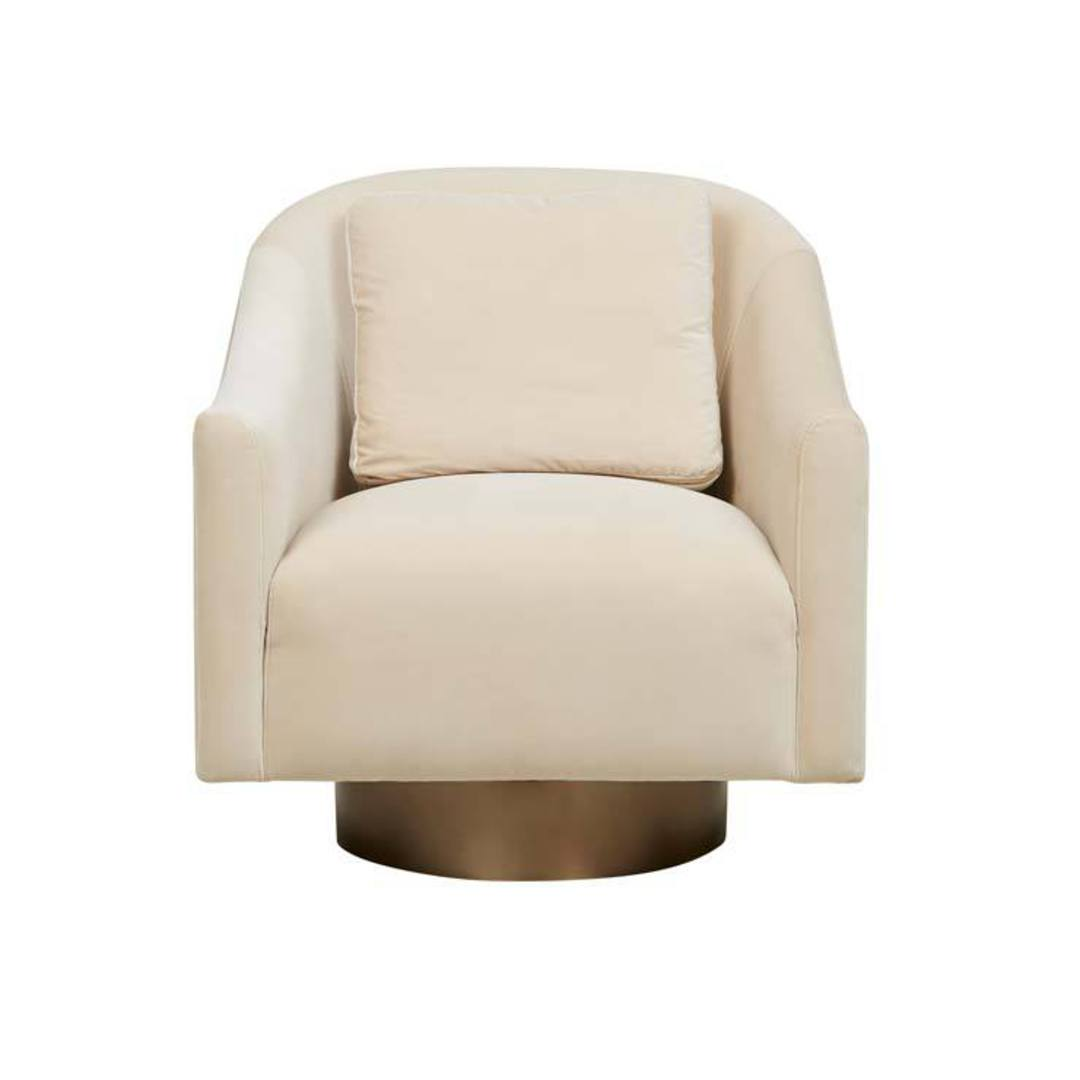 Kennedy Curve Swivel Occasional Chair image 0