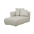 Click to swap image: <strong>Felix Pebble Lft Chs-Biscuit - RRP-$3310</strong></br>Dimensions: W950 x D1620 x H670mm</br>Shipped: Assembled - 1.141m3</br>Cushion Construction - Sofa Cushion Profile - Medium</br>Filling Material - Feather & Foam Filling</br>Seat Height - 400mm</br>Upholstery Colour - Biscuit Tweed</br>Upholstery Composition - Fabric (100% Polyester)</br>Upholstery Construction - Removable Upholstery Cover