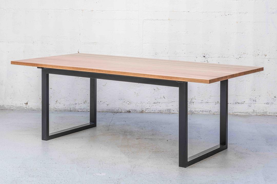 Thorndon Square Base 2000mm Table & Barleaner image 2