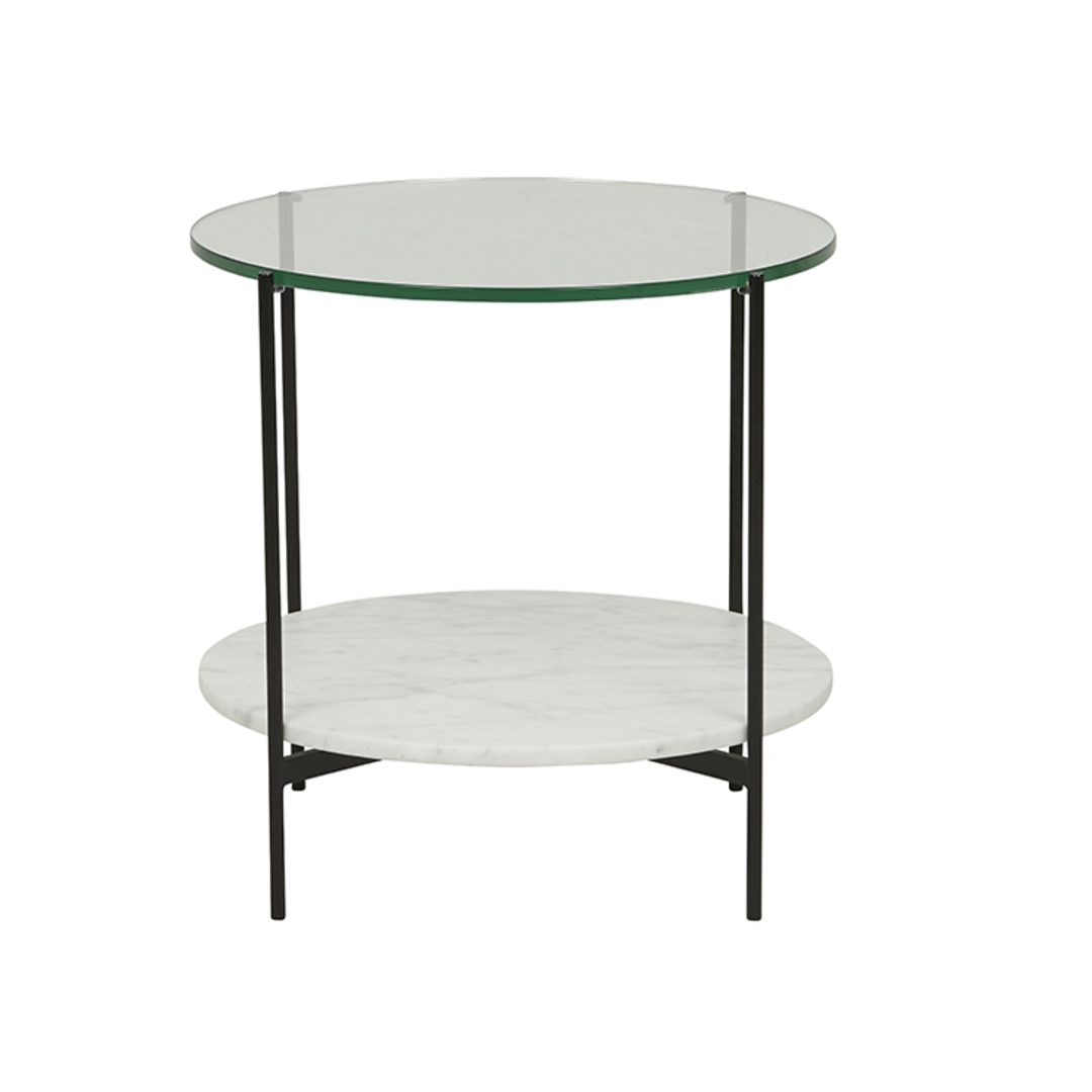 Clermont Layer Marble Side Table image 1