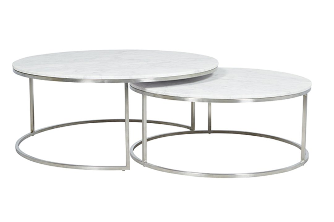 Elle Round Marble Nest Coffee Tables image 3