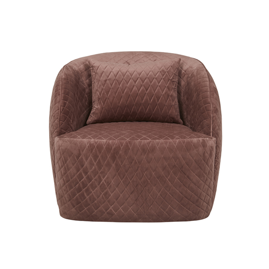 Penelope Quilted Swivel Occasional Chair image 1