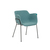 Click to swap image: <strong>Etta Arm Ch-Black/ Teal - RRP-$737</strong></br>Dimensions: W620 x D600 x H760mm</br>Shipped: Assembled - 0.137m3</br>Chair Stackable - No</br>Leg Colour - Matt Black Powdercoated</br>Leg Material - Metal</br>Seat Height - 460mm</br>Upholstery Colour - Teal</br>Upholstery Material - Fabric (100% Polyester)
