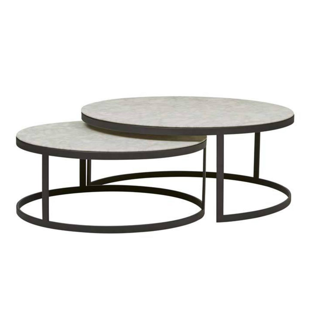Elle Round Nest Flat Coffee Table image 1