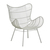Click to swap image: <strong>Mauritius Wing Occ Ch-LtGrey - RRP-$</strong></br>Dimensions: W825 x D770 x H990mm</br>Shipped: Assembled - 0.599m3</br>Chair Max. Weight - 120kg</br>Leg Colour - Light Grey</br>Leg Finish - Powdercoated</br>Leg Material - Galvanised Metal</br>Seat Height - 400mm</br>Weaving Colour - Light Grey</br>Weaving Material - 2.5mm Resin