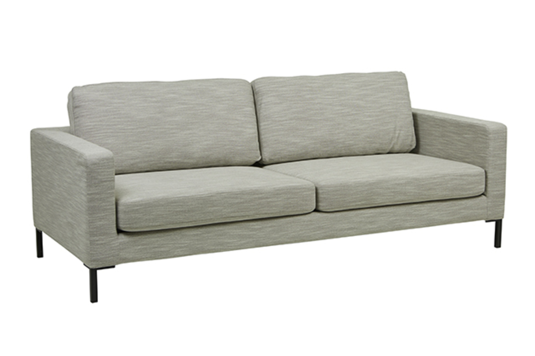 Juno 3 Seater Sofa with Black Powder Coated Legs image 2