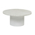 Click to swap image: <strong>Elle Pillar CoffeeTb-Wh/MtWhit - RRP-$3266</strong></br>Dimensions: 800 Dia x H370mm</br>Shipped: K/D - Requires Assembly on site - 0.153m3</br>Base Colour - White</br>Base Finish - Powdercoated</br>Base Material - Stainless Steel</br>Top Colour - White</br>Top Finish - Matt</br>Top Material - Carrara Marble (Italian)