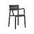 Click to swap image: <strong>Outo Arm Chair - Black - RRP-$356</strong></br>Dimensions: W550 x D485 x H825mm</br>Shipped: Assembled - 0.081m3</br>Arm Height - 700mm</br>Chair Stackable - Yes</br>Chair Weight - 4.3kgs</br>Product Max. Weight - 120kg</br>Seat Height - 480mm</br>Seat & Back Colour - Black</br>Seat & Back Finish - UV Resistant</br>Seat & Back Material - Polypropylene