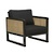 Click to swap image: <strong>Sonny Occ Chair -Natural/Black Ink - RRP-$2276</strong></br>Dimensions: W680 x D750 x H700mm</br>Shipped: Assembled - 0.486m3</br>Arm Height - 585mm</br>Cushion Colour - Black</br>Cushion Configuration - 1 Seat + 1 Back</br>Frame Colour - Black Ink</br>Frame Material - Mangowood</br>Seat Height - 370mm</br>Weaving Colour - Natural</br>Weaving Material - Rattan