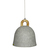Click to swap image: <strong>Brooklyn Bell Concrete Pend-Gy - RRP-$663</strong></br>Dimensions: 420 Dia x H450mm</br>Shipped: Assembled - 0.097m3</br>  -