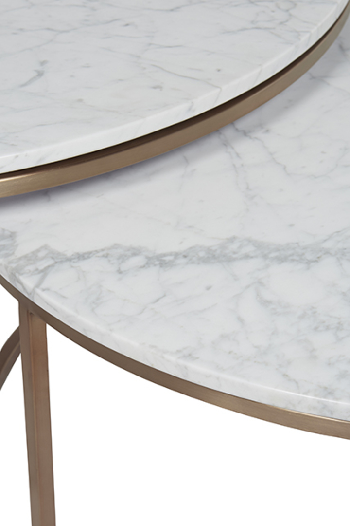 Elle Round Marble Nest Coffee Tables image 2