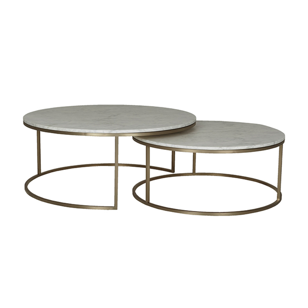 Elle Round Marble Nest Coffee Tables image 6