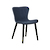 Click to swap image: <strong>Odette Dining Chair -Deep Blue - RRP-$567</strong></br>Seat Height - 450mm