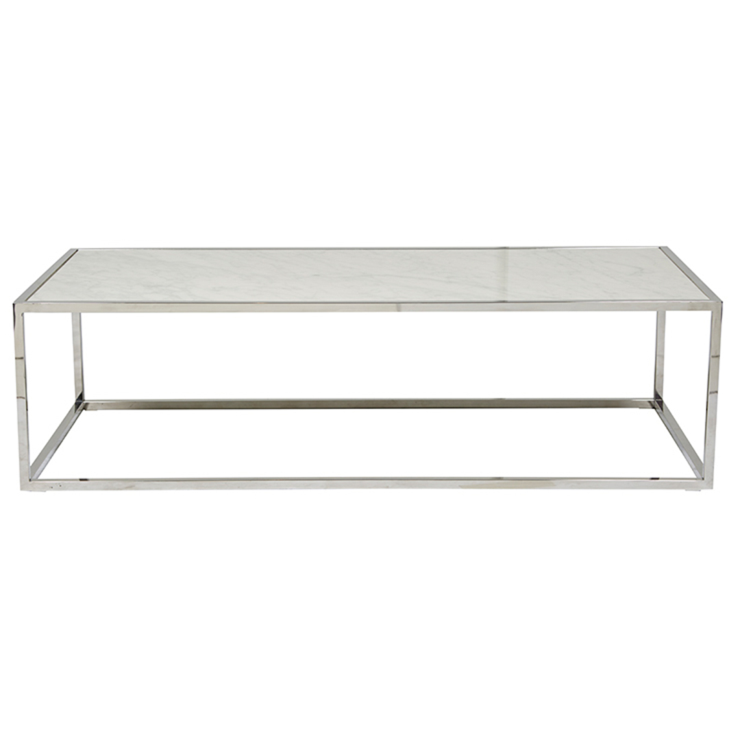 Elle Cube Gloss Marble Coffee Table image 2