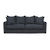 Click to swap image: <strong>Sketch Sloopy 3Str - Ink - RRP-$POA</strong></br>Dimensions: W2300 x D1020 x H950mm</br>Shipped: Assembled - 2.01m3</br>Arm Height - 620mm</br>Cushion Construction - Sofa Cushion Profile - Soft</br>Product Max. Weight - 140kg per seat</br>Seat Height - 440mm</br>Upholstery Colour - Ink</br>Upholstery Composition - 100% Linen