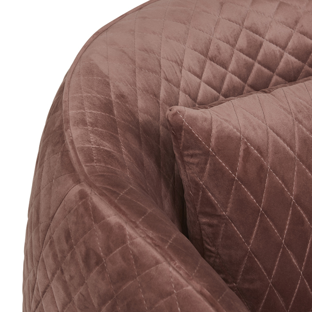 Penelope Quilted Swivel Occasional Chair image 5