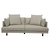 Click to swap image: <strong>Vittoria Iris 3 Str Sofa-Stone - RRP-$4320</strong></br>Dimensions: W1980 x D970 x H740mm</br>Shipped: Assembled (K/D Legs) - 1.021m3</br>Arm Configuration - 630mm arm height</br>Cushion Construction - Sofa Cushion Profile - Medium</br>Filling Material - Foam & Feather</br>Leg Colour - Natural</br>Leg Material - Solid Ash</br>Seat Configuration - 370mm seat height</br>Upholstery Colour - Stone</br>Upholstery Configuration - Removable cover</br>Upholstery Material - Fabric (100% Polyester)