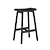 Click to swap image: <strong>Sketch Odd 735 Barstool-Black </strong></br>Seat Height - 735mm</br>Leg Colour - Light Oak</br>Leg Material - Solid Oak</br>Seat Colour - Light Oak</br>Seat Material - Solid Oak