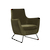 Click to swap image: <strong>Juno Dakota Sofa-HunterGreen - RRP-$1917</strong></br>Dimensions: W785 x D740 x H885mm</br>Shipped: Assembled - 0.568m3</br>Arm Height - 640mm</br>Leg Colour - Matt Black</br>Leg Finish - Powdercoated</br>Leg Material - Metal</br>Seat Height - 420mm</br>Upholstery Colour - Hunter Green Velvet</br>Upholstery Composition - 100% Polyester