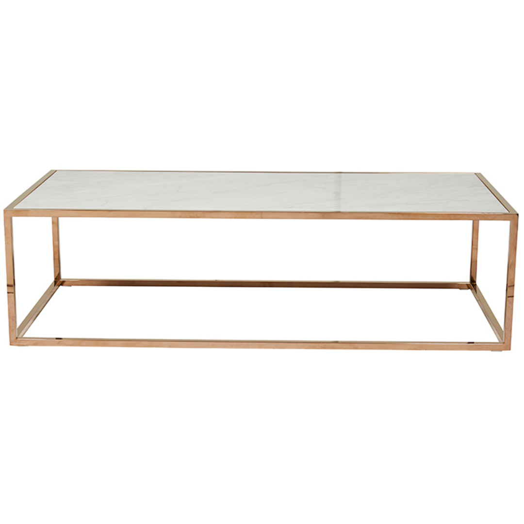 Elle Cube Gloss Marble Coffee Table image 3