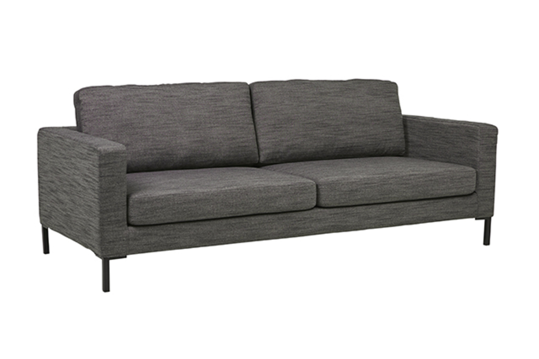 Juno 3 Seater Sofa with Black Powder Coated Legs image 1