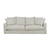 Click to swap image: <strong>Sketch Sloopy 3Str - Bone - RRP-$POA</strong></br>Dimensions: W2300 x D1020 x H950mm</br>Shipped: Assembled - 2.01m3</br>Arm Height - 620mm</br>Cushion Construction - Sofa Cushion Profile - Soft</br>Product Max. Weight - 140kg</br>Seat Height - 440mm</br>Upholstery Colour - Bone</br>Upholstery Composition - 100% Linen