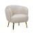 Click to swap image: <strong>Frankie Occ Chair -Cream Rose - RRP-$1904</strong></br>Dimensions: W810 x D775 x H790mm</br>Shipped: Assembled - 0.545m3</br>Filling Material - Foam Fill</br>Leg Colour - Brass</br>Leg Height - 240mm</br>Leg Material - Stainless Steel</br>Seat Height - 480mm</br>Seat Max. Weight - 120kgs</br>Upholstery Colour - Cream Rose Velvet</br>Upholstery Composition - Velvet (100% Polyester)