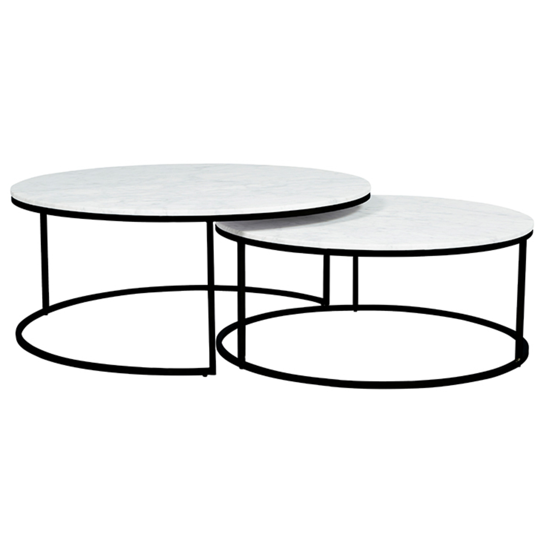 Elle Round Marble Nest Coffee Tables image 0