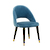 Click to swap image: <strong>Lewis Dining Ch-Black/BlueGrey - RRP-$808</strong></br>Dimensions: W540 x D595 x H860mm</br>Shipped: Assembled - 0.315m3</br>Chair Max. Weight - 120kg</br>Chair Stackable - No</br>Leg Colour - Matt Black</br>Leg Finish - Brass Tipping</br>Leg Material - Metal</br>Seat Height - 475mm</br>Upholstery Colour - Blue Grey Velvet</br>Upholstery Composition - 100% Polyester