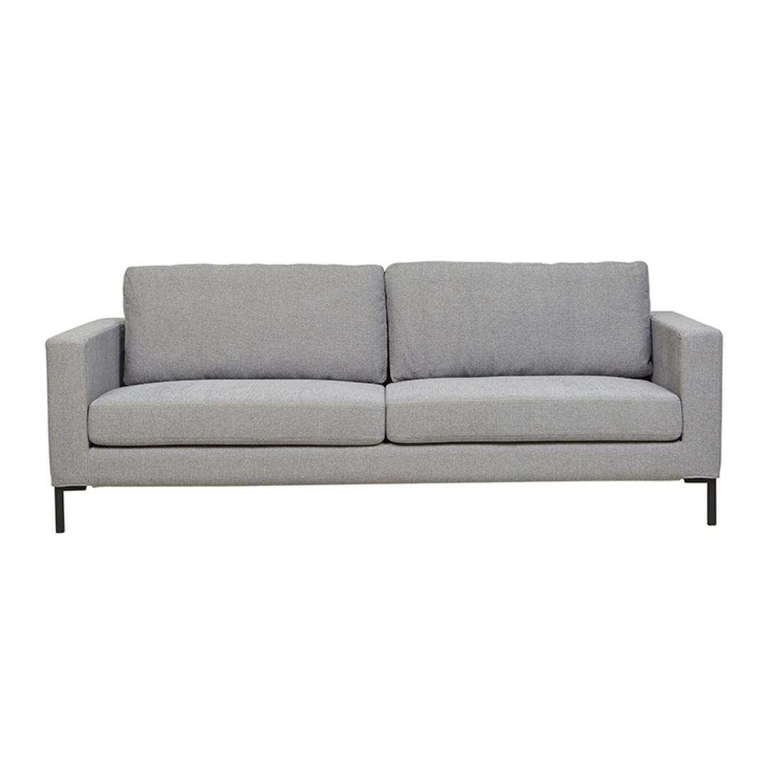 Juno 3 Seater Sofa with Black Powder Coated Legs image 6