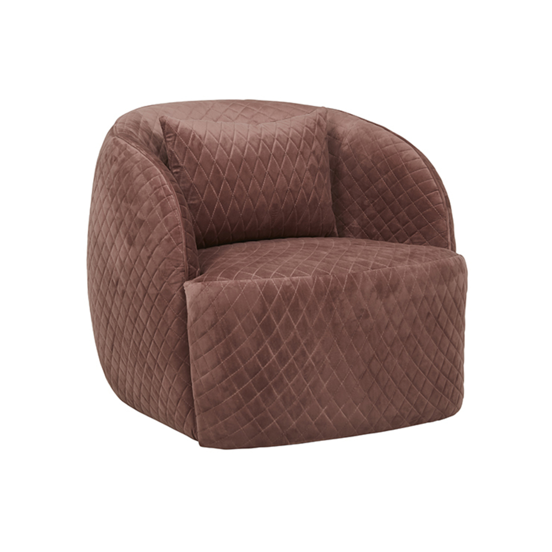 Penelope Quilted Swivel Occasional Chair image 0