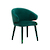Click to swap image: <strong>Freya Arm Chair-Dark Green Vel - RRP-$777</strong></br>Dimensions: W625 x D560 x H800mm</br>Shipped: Assembled - 0.306m3</br>Chair Max. Weight - 120kg</br>Chair Stackable - No</br>Seat Height - 475mm</br>Upholstery Colour - Dark Green Velvet</br>Upholstery Composition - 100% Polyester