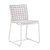 Click to swap image: <strong>Marina Sq Dining Ch-Whit/White - RRP-$</strong></br>Dimensions: W475 x D560 x H815mm</br>Shipped: Assembled - 0.207m3</br>Chair Max. Weight - 120kg</br>Frame Colour - White</br>Frame Finish - Powdercoated</br>Frame Material - Aluminium</br>Frame Stackable - No</br>Seat Height - 400mm</br>Weaving Colour - Whiteshell</br>Weaving Material - Resin Straw