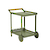 Click to swap image: <strong>Lagoon Bar Trolley - Khaki - RRP-$1633</strong></br>Dimensions: W785 x D500 x H820mm</br>Shipped: Assembled - 0.438m3</br>Frame Colour - Khaki</br>Frame Material - Aluminium</br>Handle Finish - Natural sanded</br>Handle Material - Teak